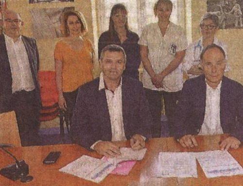 Signature convention SSIAD / HAD Centre Hospitalier Moulins (M. PASSARIEU / M. VANDENBROUCK)