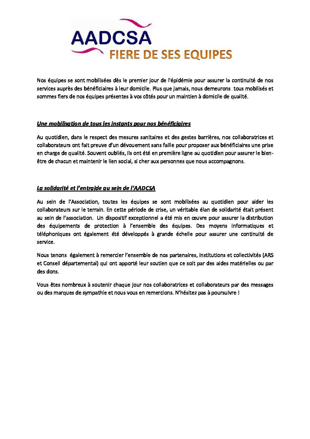 Service de Soins Infirmiers à Domicile - Aadcsa